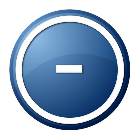 round minus button with white ring for web design and presentation Stock Photo - 7418624