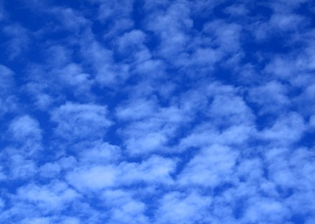 blue sky at day time with soft white clouds