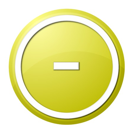 round minus button with white ring for web design and presentation Stock Photo - 7525121