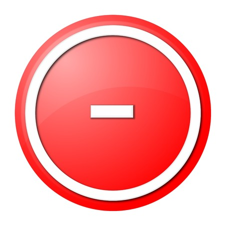 round minus button with white ring for web design and presentation photo