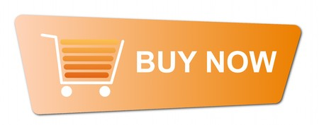Buy now button with a shopping cart on white background. Stock Photo - 7827265