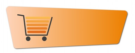 Buy now button with a shopping cart on white background. Stock Photo - 7827273