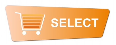 Buy now button with a shopping cart on white background. Stock Photo - 7827278
