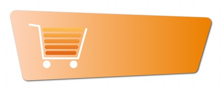 Buy now button with a shopping cart on white background. Stock Photo - 7935933