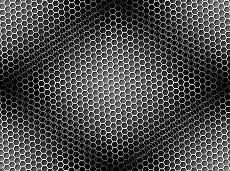 Seamless black and white honeycomb on brown background with light effect. Stock Photo - 8000775
