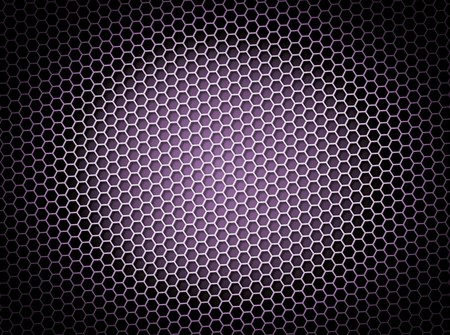 mesh: Purple honeycomb background 3d illustration or backdrop with light effect
