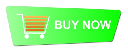 Buy now button with a shopping cart on white background. Stock Photo - 8115085