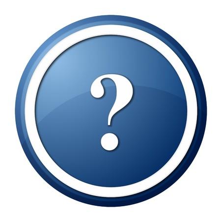 Fragezeichen: Runde Fragezeichen-Schaltfl�che mit wei�en Ring f�r Webdesign und Pr�sentation