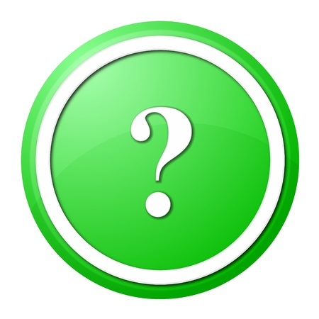 round question mark button with white ring for web design and presentation Stock Photo - 8257670