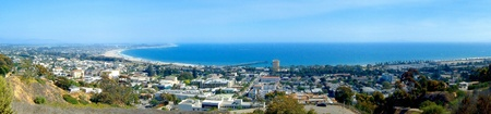 Panoramic view of Ventura with the ocean in the background
