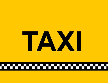new cab: Backgound of a yellow taxi cab with text