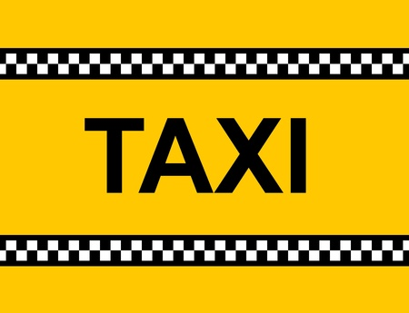 Backgound of a yellow taxi cab with text photo