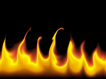 Red and orange flames against a black background. Stock Photo - 9538285