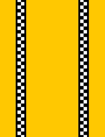 chequerboard: Background of a yellow taxi cab without text