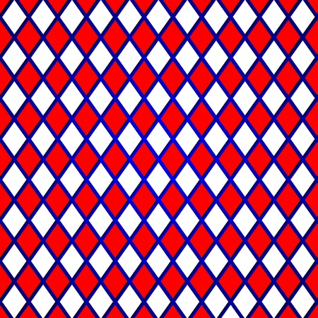 rhomb: Pattern of a red, blue, white abstract background