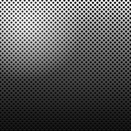 Circle texture metal abstract background with dots photo