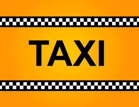 Background of a yellow taxi cab with text