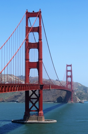View of the Golden Gate bridge in San Francisco, California. photo