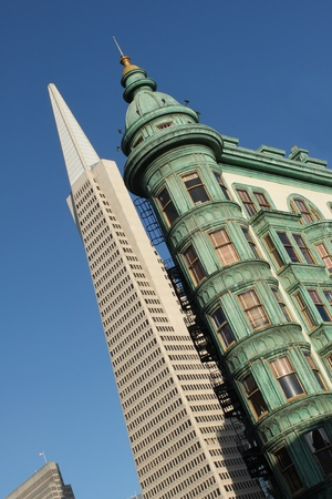View of the Transamerica Pyramid Building in San Francisco