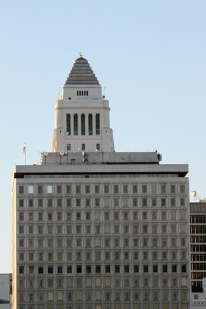 Los Angeles city hall in downtown. photo