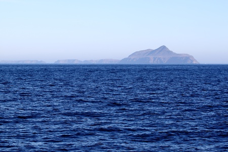 Anacapa Island at Channel Islands California with the ocean in the foreground