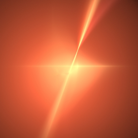 Fractal with vibrant orange color in the shape of a star