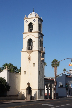 Downtown Ojai with the post office tower  Editorial