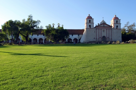 The Spanish historic Santa Barbara Mission in California