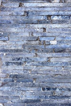 clinker: Old gray small shelf clinker walkway. Stock Photo