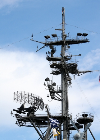 midway: Radar system of the USS Midway in San Diego