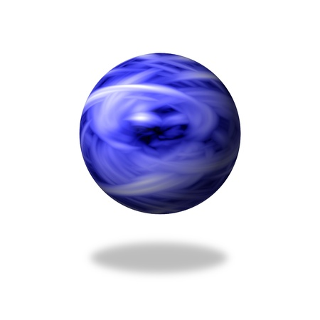 blue flame: Blue flame marble on white background with shadow Stock Photo