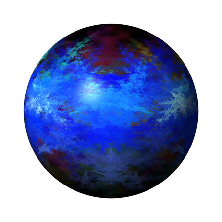 Blue color globe on white background  photo