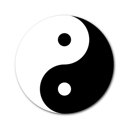 yan: Yin Yang Day Night opposite or contrary forces Stock Photo