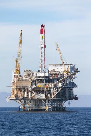 oil rig: Oil Rig in the chanel island near Ventura California.