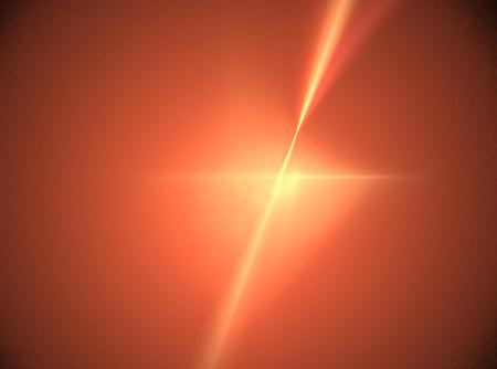 Fractal with vibrant orange color in the shape of a star. Banco de Imagens