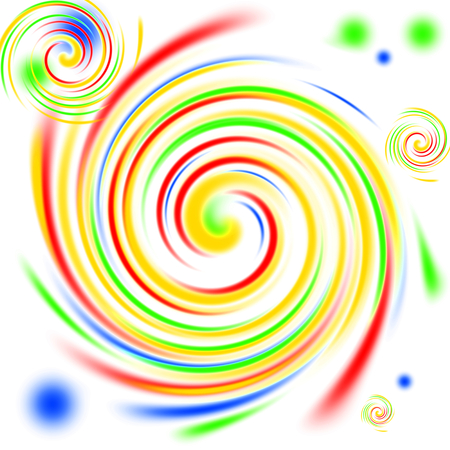 multi: Multi color swirls background on white. Stock Photo