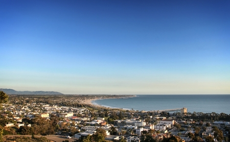 Areal few of Ventura California with the Pacific Ocean in the background.