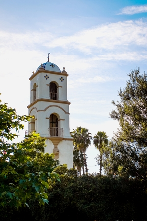 down town: The post office tower in down town Ojai.