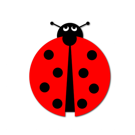 critter: Ladybug illustration on white background. Stock Photo