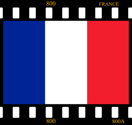 land slide: France Flag with the color blue white red. Stock Photo