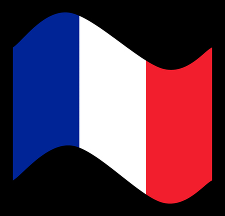 France Flag with the color blue white red. Stock Photo