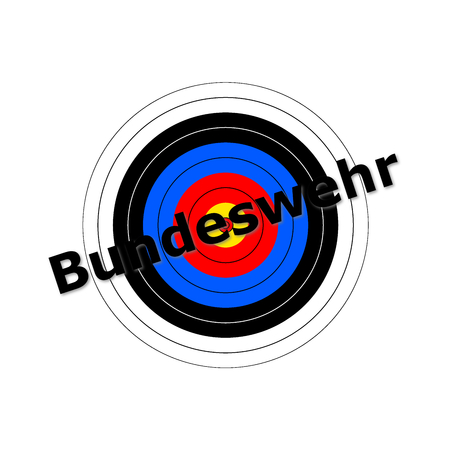 Target background with the writing Bundeswehr over it. Stock Photo