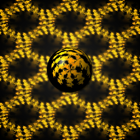 Small fractal Ball with a seamless background image.
