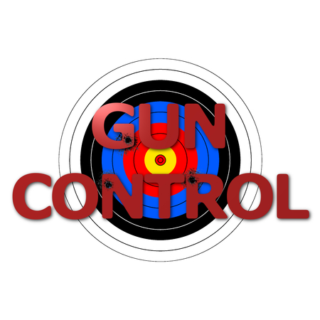 gun control: Target background with the writing Gun Control over it. Stock Photo