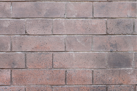 Red bricks wall with an regular pattern as a background Stock Photo