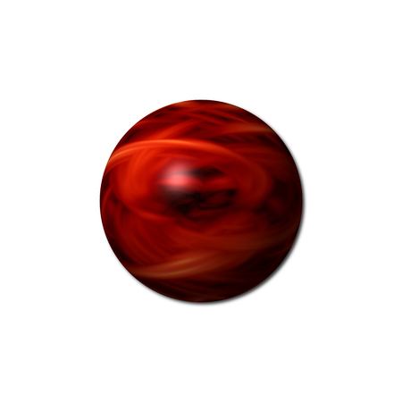 Red sphere with a white background.