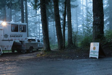 safe and sound: A search and rescue base in northwest Oregon. A mushroom hunter was lost but fortunately found, safe and sound.