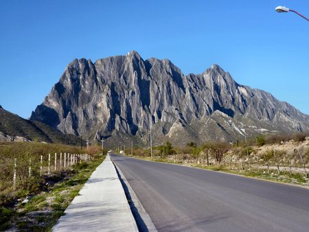 nuevo: Potrero Chico, a world class rock climbing mountain just outside Hidalgo, Nuevo Leon, Mexico Stock Photo