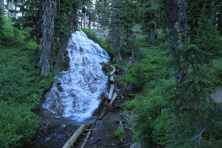 Umbrella Falls on the southeast slopes of Oregons Mount Hood.