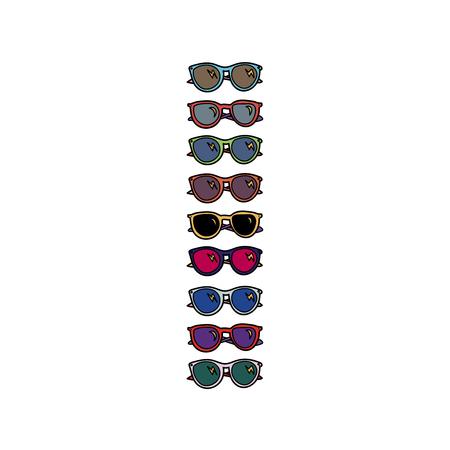 Sunglasses illustration.